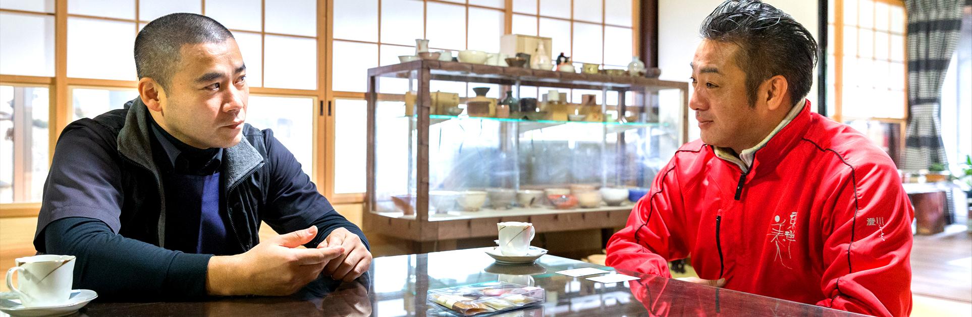澄川酒造社長と梅乃葉社長